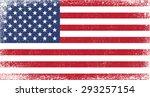 grunge usa flag.american flag... | Shutterstock .eps vector #293257154