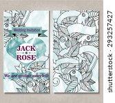 wedding invitation design with...   Shutterstock .eps vector #293257427