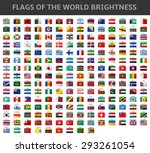flags of the world brightness | Shutterstock .eps vector #293261054