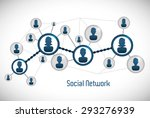 social network design  vector... | Shutterstock .eps vector #293276939
