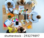 business people sitting and... | Shutterstock . vector #293279897
