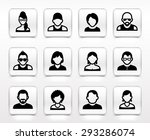 people face set on white square ... | Shutterstock .eps vector #293286074