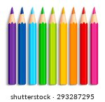 Set Of Realistic 3d Multicolor...