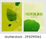 modern vector brochure  report... | Shutterstock .eps vector #293290361