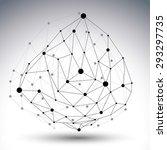 spatial technological shape... | Shutterstock .eps vector #293297735