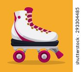 skates digital design  vector... | Shutterstock .eps vector #293304485