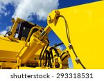 bulldozer  huge yellow powerful ... | Shutterstock . vector #293318531