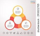 infographic element. chart ... | Shutterstock .eps vector #293321705