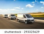 3d design delivery vans on a... | Shutterstock . vector #293325629