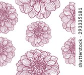 flowers pattern background | Shutterstock .eps vector #293335181