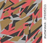 geometric camouflage pattern... | Shutterstock .eps vector #293335211