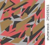 geometric camouflage pattern... | Shutterstock .eps vector #293335211