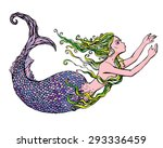 hand drawn illustration of a... | Shutterstock .eps vector #293336459