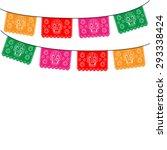 mexican banner  mexico.... | Shutterstock .eps vector #293338424