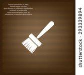 paint brush. vector icon. flat... | Shutterstock .eps vector #293339894