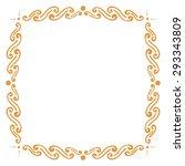 simple artistic frame  freehand ...   Shutterstock .eps vector #293343809