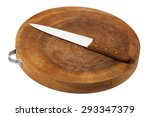 chopping board on white... | Shutterstock . vector #293347379
