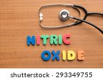 nitric oxide colorful word with ...   Shutterstock . vector #293349755