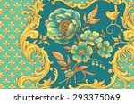 green peony  right  | Shutterstock . vector #293375069