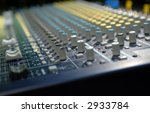 soundboard with shallow depth of field - stock photo