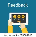 feedback illustration. flat... | Shutterstock .eps vector #293381015