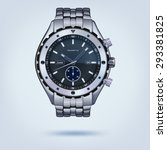 photorealistic metal watches...   Shutterstock .eps vector #293381825