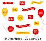 set of sale stickers  labels... | Shutterstock .eps vector #293384795