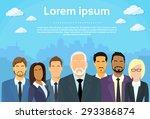 senior businessmen boss with... | Shutterstock .eps vector #293386874