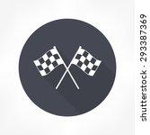 racing flag icon | Shutterstock .eps vector #293387369