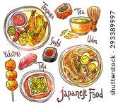 asian food  hand drawn... | Shutterstock .eps vector #293389997