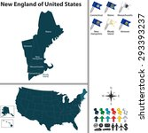 vector set of new england of... | Shutterstock .eps vector #293393237
