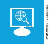 icon with image of globe symbol ...