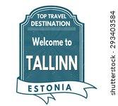 tallinn grunge rubber stamp on...   Shutterstock .eps vector #293403584