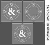 set of three flat frames and... | Shutterstock .eps vector #293404751