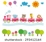 cute illustrations for children ... | Shutterstock . vector #293412164