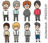 vector set of boys | Shutterstock .eps vector #293423114