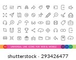 Set From 50 Flat  Icons For We...