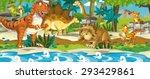 cartoon dinosaur land  ... | Shutterstock . vector #293429861