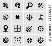 vector black target icon set on ... | Shutterstock .eps vector #293430197