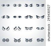 vector black cartoon eyes icon... | Shutterstock .eps vector #293430527