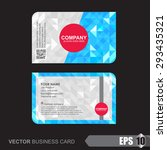 business card template with... | Shutterstock .eps vector #293435321