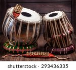 tabla drums and bells for... | Shutterstock . vector #293436335