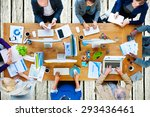 business people technology... | Shutterstock . vector #293436461