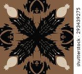 circular seamless  pattern of... | Shutterstock .eps vector #293439275
