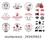 barbecue  seafood  steak house... | Shutterstock .eps vector #293439815