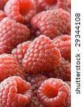 fresh raspberries in macro | Shutterstock . vector #29344108