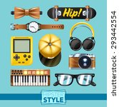 hipster elements set with... | Shutterstock .eps vector #293442554