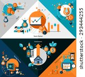 investment corners set with... | Shutterstock .eps vector #293444255