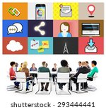 social network global... | Shutterstock . vector #293444441