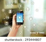 internet of things concept with ... | Shutterstock .eps vector #293444807